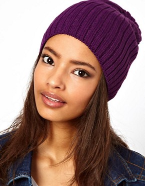 Image 1 ofASOS Short Rib Knit Beanie