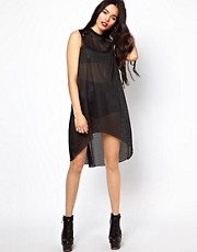 The Ragged Priest High Neck Dress in Mesh
