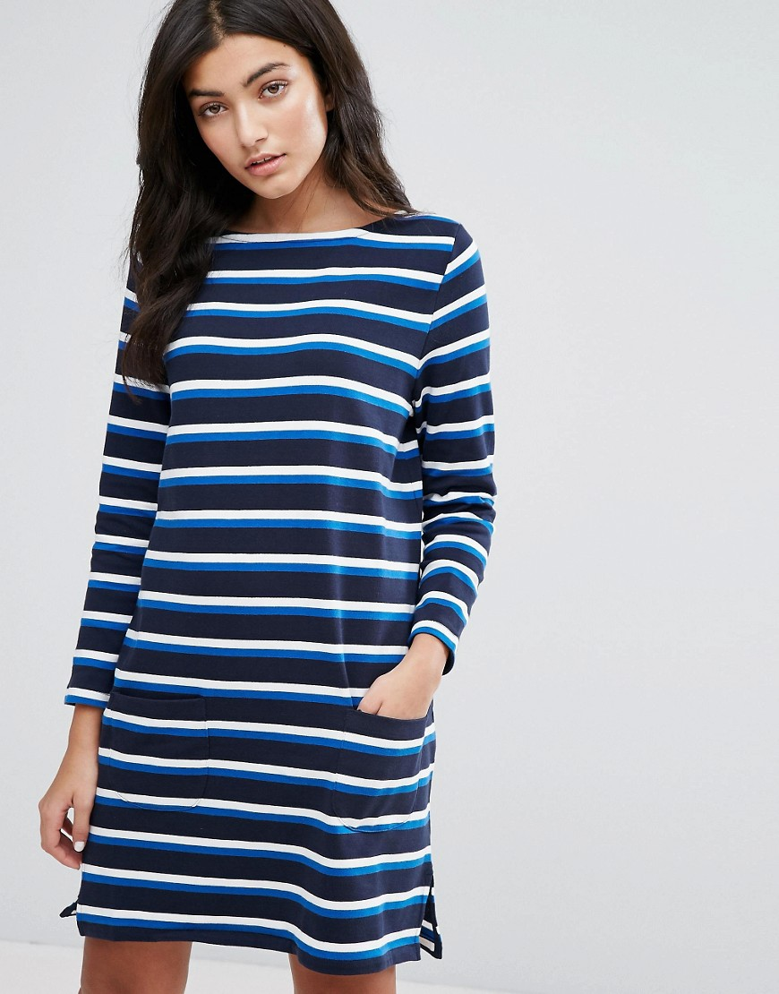 YMC Breton Stripe Long Sleeved Jersey Dress