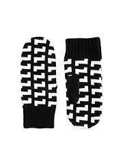 ASOS Monochrome Mixed Pattern Mittens
