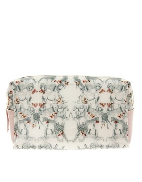 Image 1 ofTed Baker Safari Print Make-up Bag
