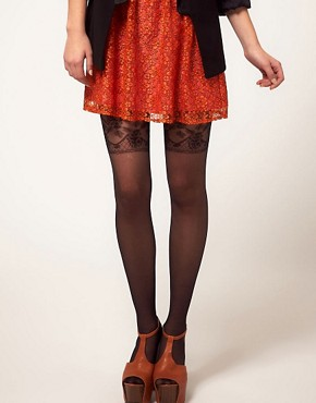 Image 1 ofGipsy Mock Garter Tights