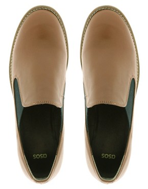 Image 3 of ASOS MOTOWN Leather Flat Shoes