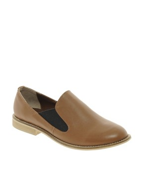Image 1 of ASOS MOTOWN Leather Flat Shoes