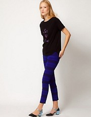 See By Chloe Printed Ankle Jeans