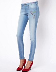 Vivienne Westwood Anglomania For Lee Distressed Skinny Jeans