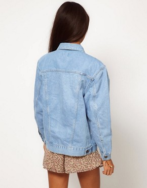 Image 2 ofASOS Denim Jacket in Oversized Boyfriend Fit