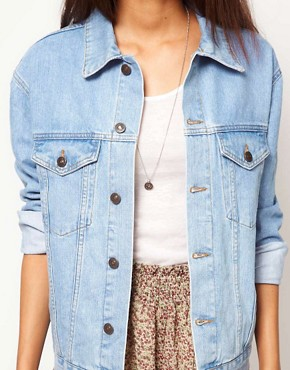 Image 3 ofASOS Denim Jacket in Oversized Boyfriend Fit