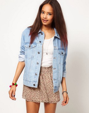 Image 1 ofASOS Denim Jacket in Oversized Boyfriend Fit