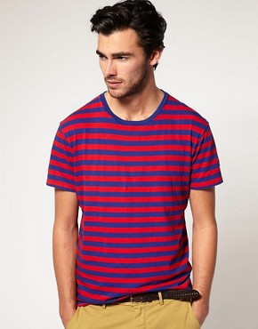 Image 1 ofGant Rugger Breton Stripe T-Shirt