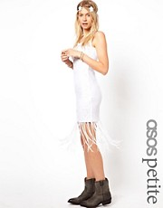 ASOS PETITE EXCLUSIVE Crochet Dress With Fringe Hem
