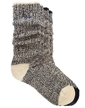 Image 1 ofPringle 2 Pack Chunky Marl Socks