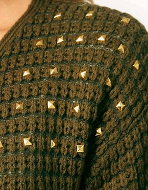 Image 3 of Hearts & Bows Cardigan with Stud Shoulders