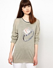 Markus Lupfer Diamond Ring Sequin Jumper