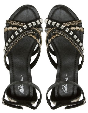 Image 3 ofPark Lane Embellished Flat Sandals