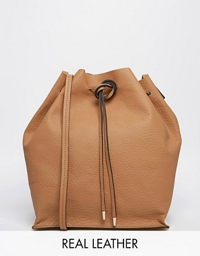 ASOS Evie Premium Leather Duffle Bag