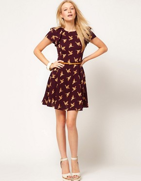 Image 4 ofOasis Country Print Skater Dress