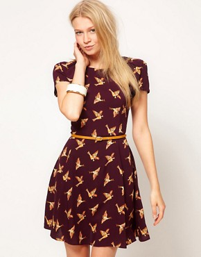 Image 1 ofOasis Country Print Skater Dress