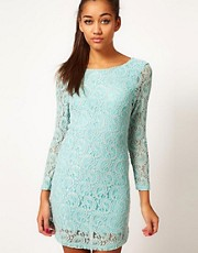 Motel Lace Dress With Deep V Back