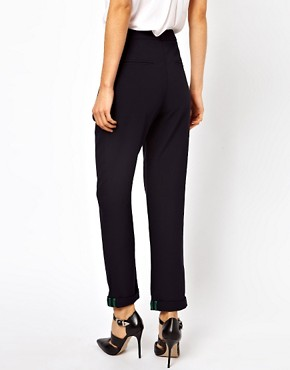 Image 2 ofASOS Trousers With Slouch Roll Hem