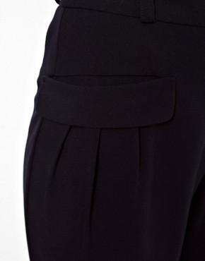 Image 3 ofASOS Trousers With Slouch Roll Hem