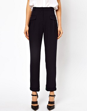 Image 4 ofASOS Trousers With Slouch Roll Hem