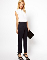 ASOS Trousers With Slouch Roll Hem