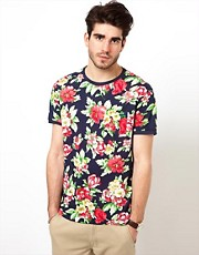 Gant Rugger T-Shirt with Floral Print