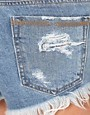 Image 3 ofWashborn Distressed Denim Shorts