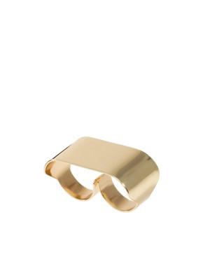 Image 1 ofASOS Double Finger Smooth ID Ring
