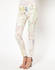 7 For All Mankind Batik The Skinny Jeans
