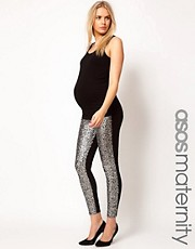 ASOS Maternity Leggings With Sequin Panel