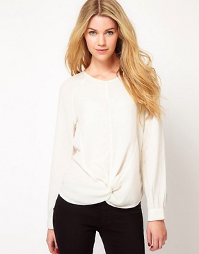 Image 1 ofSelected Knot Detail Blouse