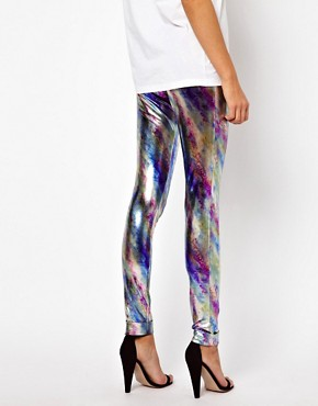 Image 2 ofPaprika Metallic Leggings