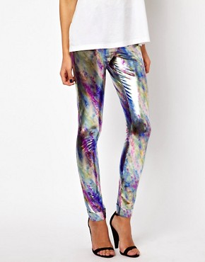 Image 4 ofPaprika Metallic Leggings