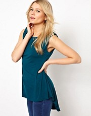 Oasis Dipped Hem Peplum Top