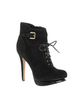 Image 1 ofSam Edelman Uma Leather Lace-Up Ankle Boot