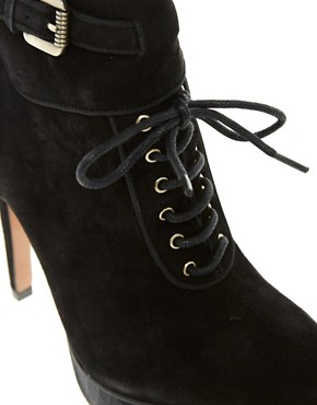 Image 3 ofSam Edelman Uma Leather Lace-Up Ankle Boot