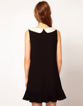 Image 2 ofDarling A-Line Pleated Dress with Contrast Collar
