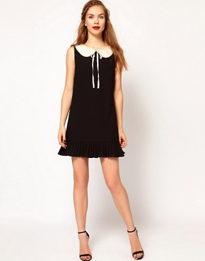 Image 4 ofDarling A-Line Pleated Dress with Contrast Collar
