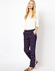NW3 Tie Dye Polka Dot Trousers