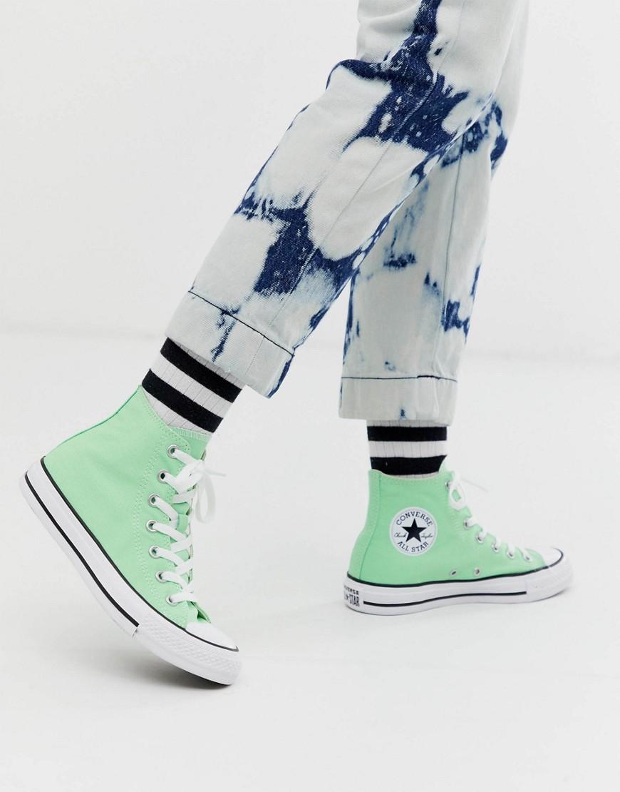 Converse - chuck taylor all star - Baskets montantes - Vert fluo délavé - Vert