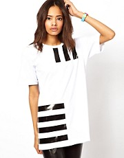 ASOS Boyfriend T-Shirt with Plasticised Barcode Print