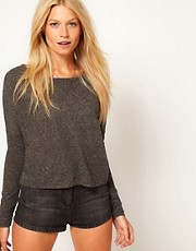 ASOS Crop with Long Sleeve in Texture