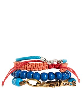 Bild 2 von ASOS  Lanyard  Set aus breiten Armbndern