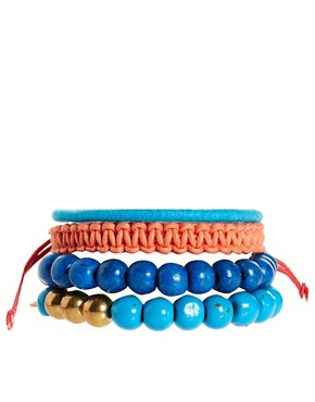 Bild 1 von ASOS  Lanyard  Set aus breiten Armbndern