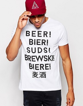 ASOS T-Shirt With Beer Language Print