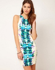 Lipsy Cutaway Shoulder Waisted Dress