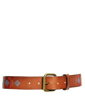 Image 1 ofMango Leather Embroidered Belt