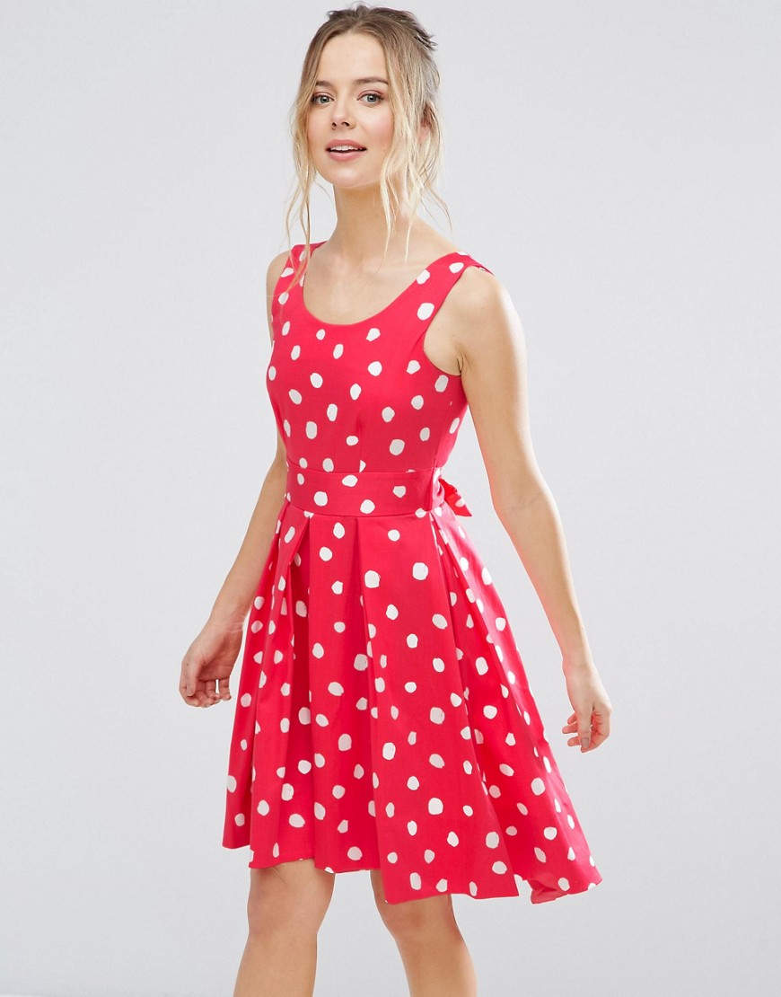 Closet London Polka Dot Skater Dress